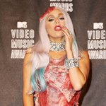 Ever wondered what @LadyGagas #VMA meat dress looks like now? Look no further... http://t.co/FNT5UFJntt http://t.co/y9Oongwgdt