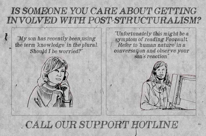 Is someone you care about getting involved with post-structuralism? http://t.co/JqsfPgbEqy