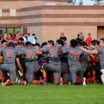 Prayer before the game and the blast off - Mohi vs Ceres Varsity #mohifootball http://t.co/xdyUq0L4m8