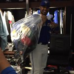 """""""@BlueJays: .@Encadwin all smiles after his #HatTrick today! 💪 http://t.co/WSmStmKxY7"""" Edwin got himself a few souvenirs today"""