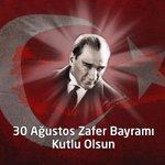 30 Ağustos Zaferimizin 93. yıldönümünde, Ulu Önderimiz Atatürkü, şehitlerimizi ve gazilerimizi saygıyla anıyoruz. http://t.co/pUR8SYWZfk