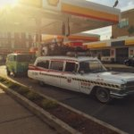 Yes indeed that is Ecto 1 and the Mystery Machine gassing up on Boylston St! @universalhub #boston http://t.co/56mvhWEXD9