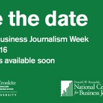 Journalists & educators mark your calendars for Reynolds Business Journalism Week 2016! http://t.co/MkFkaagn7g