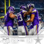 The #Vikings move to 4-0 this preseason with tonights win! http://t.co/i8YAyfQlPa
