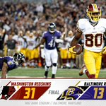 Thats a final!  #Redskins roll to 31-13 victory over the Ravens.  #WASvsBAL #HTTR http://t.co/8VLK5Zvpqd