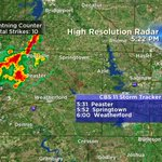 Storms over NW Parker Co over next hr drifting toward Tarrant Co. Lightning, brief hvy. rain. #CBS11WX http://t.co/8p5LbDpg44