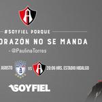 ???? Estadio Hidalgo ⚽️ @Tuzos vs. @atlasfc ???? Sábado 29 de agosto ⏰ 20:06hrs. ¡DALE ATLAS! ????⚫️ #SoyFiel http://t.co/5Tjl18A9MP