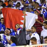 علم مملكة البحرين مُتواجد اليوم بمدرجات الهلال في ملعب الأمير عبدالله بن جلوي بالأحساء ????????. #الهلال http://t.co/5lGLOcXy0R