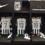 El vestuario Verdolaga listo para recibir a los jugadores. ¡Vamos Nacional! #MiNacionalenvivo http://t.co/ywnV83KW8f