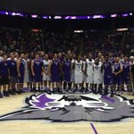 The Weber State mens basketball  alumni classic teams in a group photo! #WeAreWeber http://t.co/tiDPmAh2CH