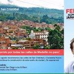 Hoy recorrimos Belén y mañana rumbo al Corregimiento de San Cristóbal. No paramos. #CREEMOS http://t.co/MODNrfb4N2
