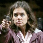 Katie Holmes pulls out a gun while filming an intense scene. See the pics: http://t.co/7aZoeW8eml http://t.co/FGwJPR9BeF