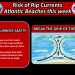 8/29: Life-threatening #RipCurrents likely along #SoFlas Atlantic beaches through weekend. Swimming not recommended. http://t.co/zxT5AjCCcx