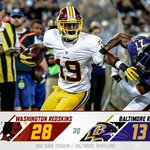 The #Redskins take a 28-13 lead against the Ravens into the fourth quarter here in Baltimore. #HTTR #WASvsBAL http://t.co/vQVHcd4cCH