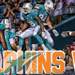 FINAL; @MiamiDolphins beat the Falcons 13-9. Ryan Tannehill with 145 yards and a touchdown. http://t.co/8YzdSPGFAx