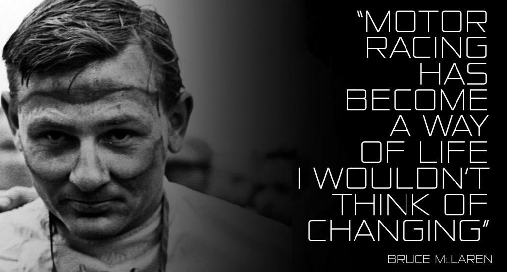 Designer, driver, engineer, inventor. Our founder, Bruce McLaren, would have been 78 today. #HappyBirthdayBruce http://t.co/TzfybgLT1P
