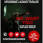 Be the official voice of a Warhammer Vermintide trailer! http://t.co/h00VUoDftt #pax #PAXPrime http://t.co/RiDoECUCuO