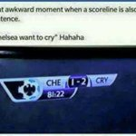Chelsea want to cry! :P http://t.co/TwejZI3tmU