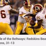 Battle of the Beltways: #Redskins Beat Ravens, 31-13. #HTTR @nbcwashington http://t.co/WuteS9ut2q http://t.co/Xjc18d6tze