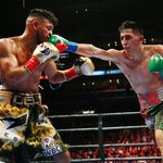 A raucous crowd at Staples Center got their moneys worth as Santa Cruz and Mares combined for 57 punches per minute! http://t.co/ZDRcoG4laO