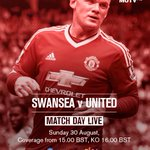 #MUTV has the best build-up to Swansea v #mufc - tune in from 15:00 BST (UK/IRE): http://t.co/MUSsT1ZtdE http://t.co/bCwJ8qnS9z