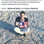 Independence Day wish from Gaza. ???? #sehatisejiwa http://t.co/hpvcs30T87
