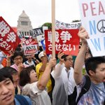 120,000 people rally outside Japans Diet in protest against controversial security bills http://t.co/y2BWxCTQXa http://t.co/bmIf2k0gBy