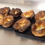 The first of todays hot, fresh Yorkshire Puddings from the oven. Just add rich, beef gravy! Yummy! #barnsleyisbrill http://t.co/iCsSkpbSee