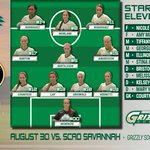 Your Grizzly Womens starting line up for todays game against SCAD #GGCWSOCCER http://t.co/6fN9Lxb97s