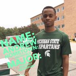 Hi Andrew! Hes a Zoology major from Southfield kicking off his Spartan Experience in #MSUBrody! #SpartanMoveIn http://t.co/Qoane2VjFJ