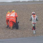 An early fall for @yonny68motogp. Rider OK but his #BritishGP is already over. #MotoGP http://t.co/DxqyZ8uLSq