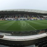 Were in position for todays game at the Liberty Stadium, with kick-off at 16:00 BST. #mufc http://t.co/xgnQcffNa6