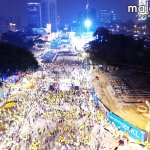 Aerial view of dispersing #Bersih4 crowd after midnight. Updates: http://t.co/aatMssFuMQ App: http://t.co/KoQFL8vGM6 http://t.co/3roRexMJxw