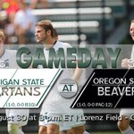Its GAMEDAY! #9 Spartans take on 25th ranked @OSUBeavers_MSOC at 3 pm ET in Corvallis! #GoGreen http://t.co/izrSjA1weC