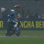 #Moto3 A fall at Turn 7 for @RomanoFenati who had a solid third place in his sights. Rider OK. #BritishGP http://t.co/zWIZSDpOte