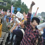 Some photos of todays massive protest in #Tokyo against PM Abes security policies | 2 of 3 #Japan @SEALDs_Eng http://t.co/1b1v7kIaVr