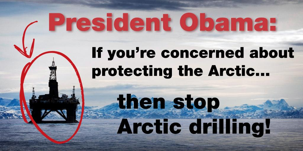 RT @greenpeaceusa: The US wants to be a leader in climate while permitting Arctic oil drilling? Uh, no. http://t.co/IlSfsCTLnU #GLACIER htt…