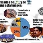Los medios colombianos sólo pendientes de @NicolasMaduro mientras Santo y Uribe jodiendo a los Colombianos @GieBell http://t.co/M91uuDWBvj