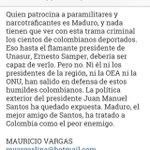 Sobre el tirano de Venezuela, su maltrato a colombianos, y el papel de organismos internacionales frente a la tortura http://t.co/FskPW0LKL2