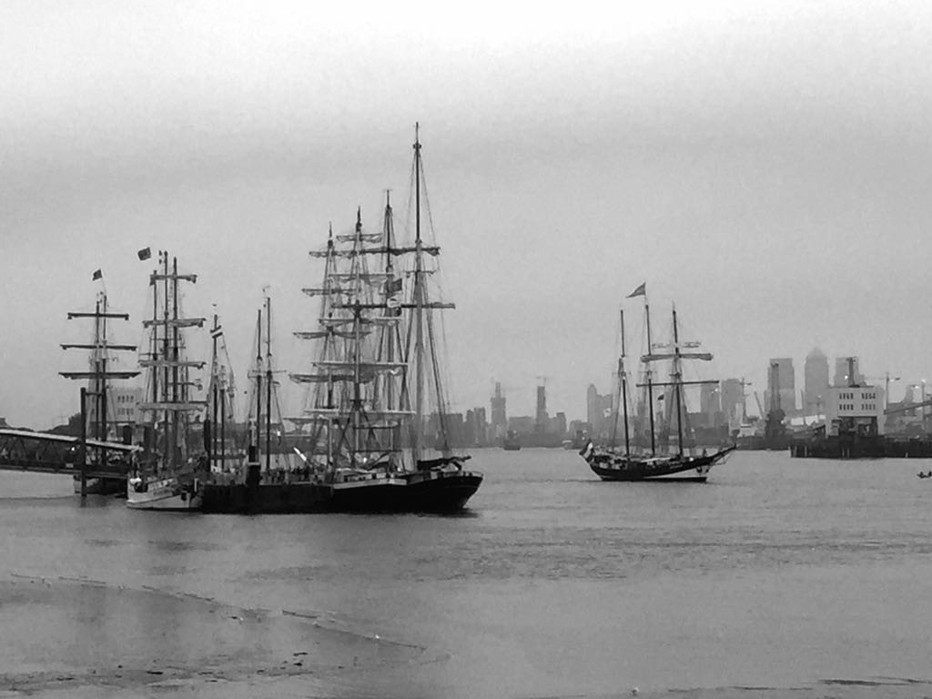 Ignore the skyline and you could be forgiven for thinking this is Woolwich in days gone by. #TallShips http://t.co/fqCFU5rWNZ
