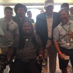 Catching up with Donald Trump at the Barclays http://t.co/0fwKO23dMQ