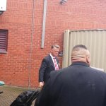 Louis van Gaal leaving the Liberty Stadium. Doesnt look happy. #MUFC http://t.co/CoSFiYTkxP