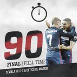 ¡FINAL! ⚽ @Koke6 + ⚽ Gabi + ⚽ @J_MOfficial. |0-3| #SevillaAtleti http://t.co/UagM6JTJqI