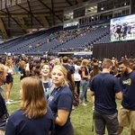About to emcee @NAU Letters in the Skydome....some 5,000 plus freshmen on the field to spell....N A U #NAUStrong http://t.co/fE4WIrvpUs