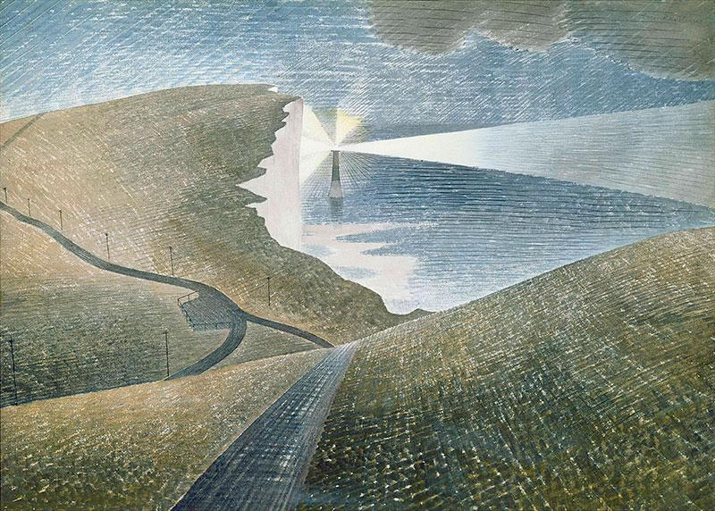 More Eric Ravilious - Beachy Head 1939 Simple, yet exquisitely sophisticated composition. http://t.co/frIlreXrNO