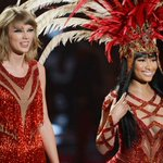 Check out Taylor and Nicki at the #VMAs: http://t.co/q7Nu0396u0 Photos by: Kevork Djansezian/Getty Images/AFP http://t.co/554PMfB47c