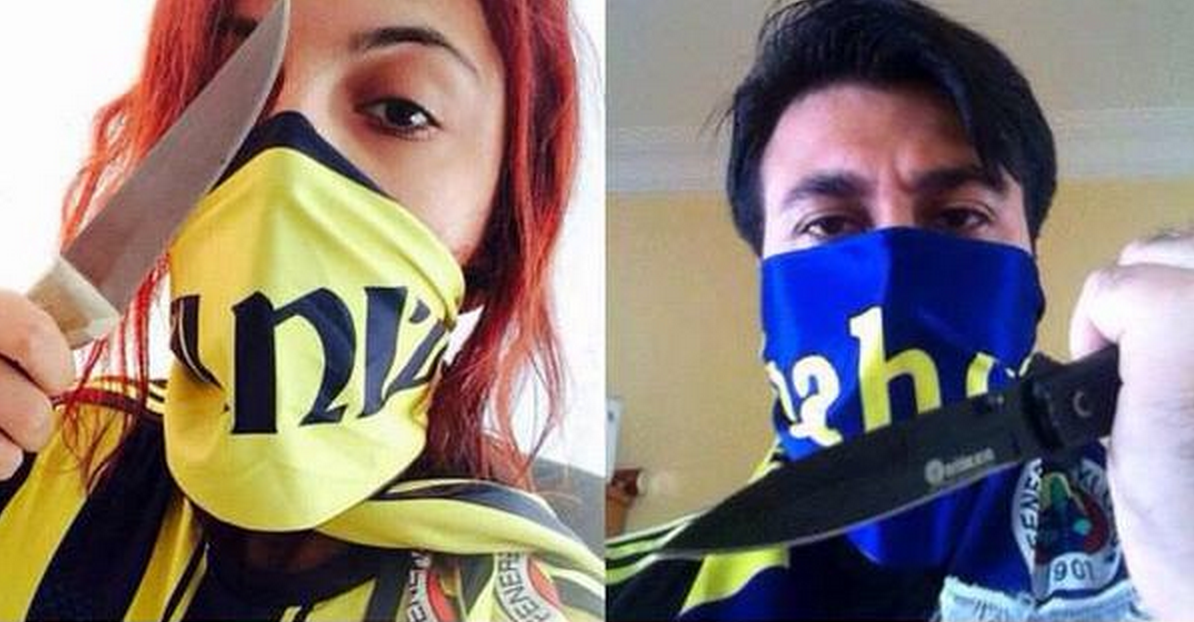 Celtic fans respond to menacing photos tweeted by Fenerbahçe fans ahead of Europa League clash! #ThatsNotAKnife http://t.co/H3Ub1mU9e3