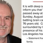 Wes Craven's family confirms the director has died of brain cancer. He was 76. http://t.co/FvUgSUBOK9