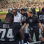 Head Coach Jack Del Rio in action. #Raiders http://t.co/Il0yFFxjVP