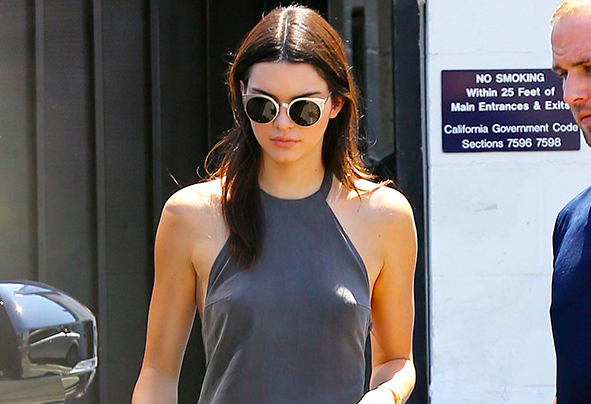 Kendall Jenner Went Braless In A Y Summer Sun Dress Http